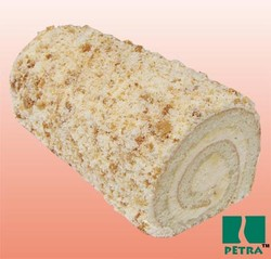 Appetizing creamy Rolled cake